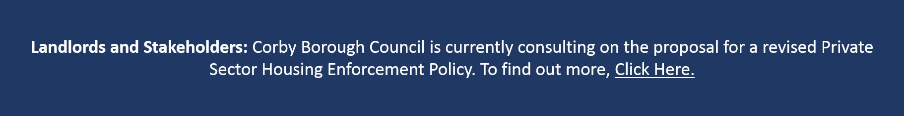 Enforcement Policy Banner