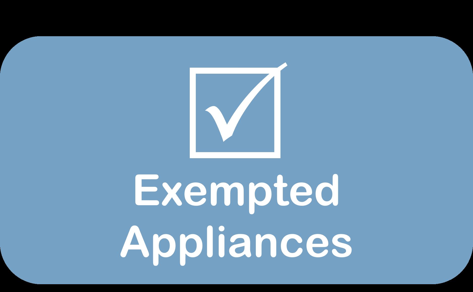 Exempted Appliances Button