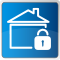 house and lock icon