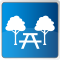 park and bench icon