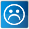 unhappy face icon