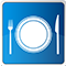 knife fork plate icon