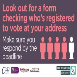 Look out for a form checking who's resdtered to vote at your address - make sure you respond by the deadline